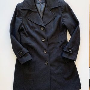Gallery charcoal wool blend pea coat size large